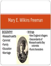 Mary E. Wilkins Freeman Outline.ppt