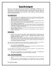 Tips for New Immigrants in Australia.pdf