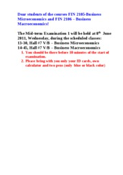 Attention ! Mid-term Exam 1