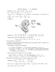 Practice Exam 2 A –Solutions