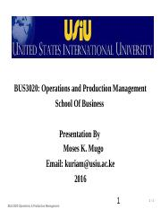 Topic 1, Introduction to Ops Mgt