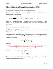 TOPIC 3 The Multivariate Normal Distribution(1)