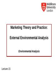 MKT1120 Lecture 15 External Environmental Analysis.ppt