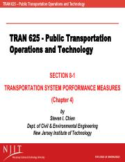 Section 8-1 - Transportation System Performance