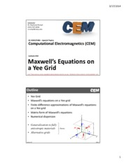 Lecture 10 -- Maxwell's Equations on a Yee Grid