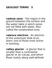 GEOLOGY TERMS   5