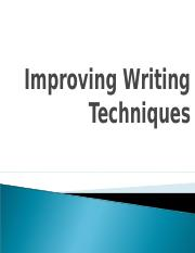 Writing Techniques.ppt