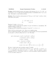 Sample Optimization Problem