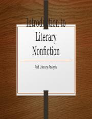 Introduction to Literary Nonfiction.pptx