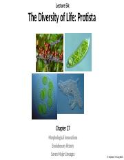 Lecture 5 - Diversity of Life - Protista and Fungi EC.pptx