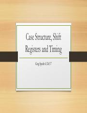Case structures, shift registers and timing 4-24-17