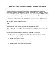 6 conflict task sheet