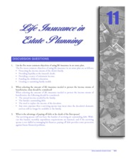 CHAPTER 11 LIFE INSURANCE IN ESTATE PLANNING