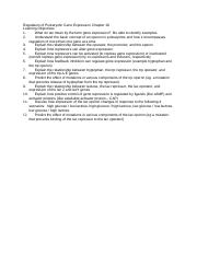 18 - Regulation of Prokaryotic Gene Expression Learning Objectives (1).docx