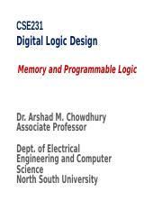 CSE231-class11-Memory and Programmable Logic Array.ppt