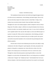 5 pages self reflection essay