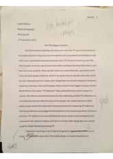tv addiction essay