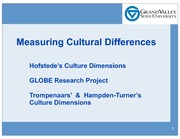 Measuring Cultural Differences