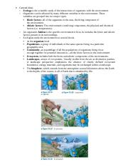 Bio NOTES 14 Ecology general ideas .docx
