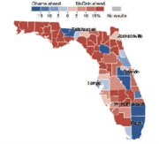 FLORIDA EXIT POLLS. point out cities vs rural