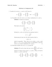 MATH 60 Fall 2014 Assignment 3 Solutions