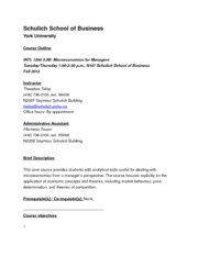 INTL 1200B - Fall 2013 - Course Outline