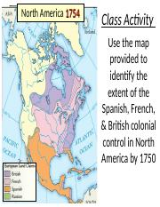 2 French Indian War Ppt North America 1754 Bellringer 8 25 1