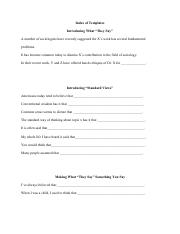 *Writing Stuff : Essay Prompts* ~ (Handout 6) Writing Templates