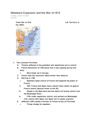 Class Notes 14- Westward Expansion (10-9)