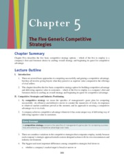 5 basic competitive strategy options