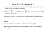Lesson 24a - Absolute  Conditional Convergence