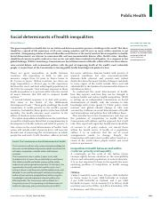 "Marmot, Michael. _2005_. ""Social Determinants of Health Inequalities."" Lancet 365-1099-104..pdf"