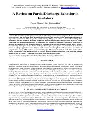 A Review on Partial Discharge Behavior in Insulators-1121.pdf