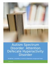 disabilities modalities and activity adapations paper ASD ADHD.docx