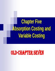 W6-Variable cost-chp05