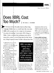 does XBRL cost too much