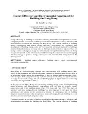 Energy-Efficiency-and-Environmental-Assessment-for-Buildings-in-Hong-Kong-ABSTRACT