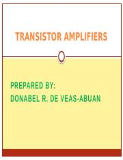 TRANSISTOR AMPLIFIERS.pptx