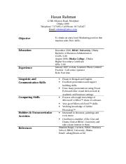 Sample Solicited Application Letter & Resume.doc