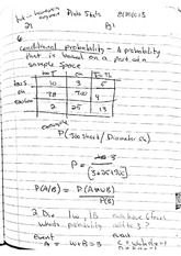 Prob Stats - Conditional Probability