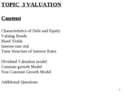 Topic 3 Valuation Part 1 Bonds