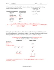 Chem 102 Fall Exam 3