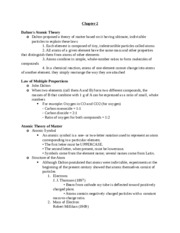 Chem 107 - Chapter 2 Notes