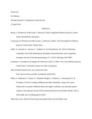 ENG 200H - Research Paper - Full Bibliography