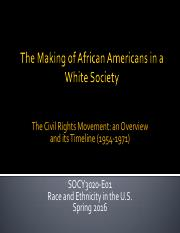 04 SOCY3020-E01 Chapter 4 - Civil Rights Movement - Spring 2016