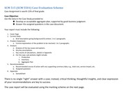 SCM 5501 Case Assignment Marking Scheme Summer 2014(1)
