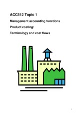Topic 1 Management accounting functions