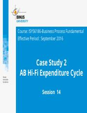 Z00120020120164041ISYS6186-BPF-PT14-Case Study Discussion 2 - AB Hi-Fi Expenditure Cycle