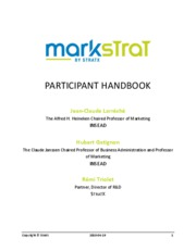 markstrat final management report Mktg 5308 - marketing management instructor and contact information instructor: dr tyson ang you are required to submit weekly reports about your markstrat decisions o performance report o written report (8 @ 20 pts = 160 pts) final presentation (70 pts) quiz 1 and 2.