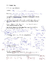 Ch 5 Instructor hand-written notes